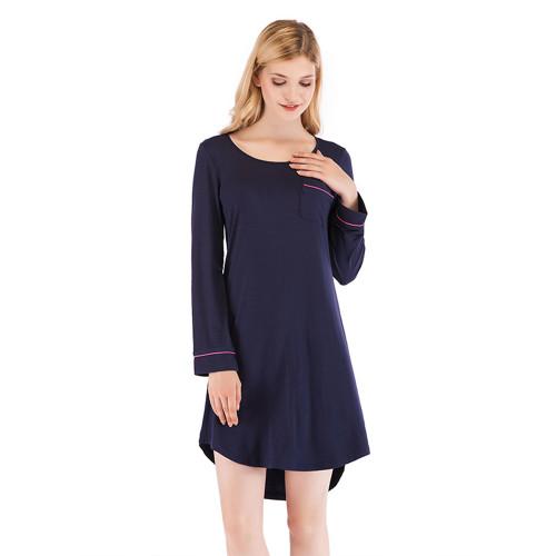 ملابس غير رسمية ملابس نوم ملابس نوم نسائية بأكمام طويلة مقاس كبير