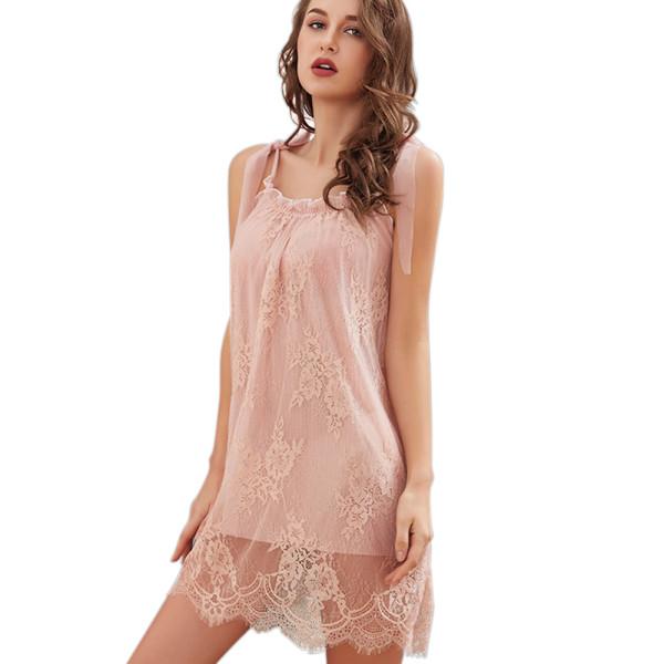 One Piece Sleepwear Womens,Lace Sling Sleepwear,Vest Women Home Wear,Shorts Pretty Nightshirt Wholesale