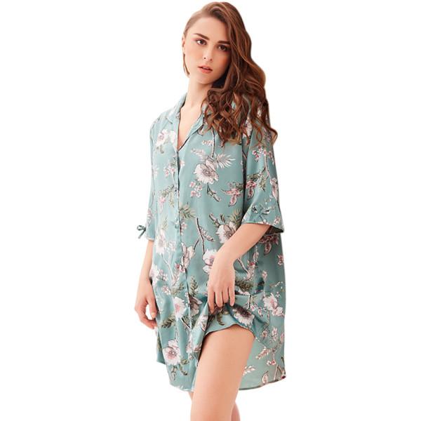 Lingerie Sleepwear and Loungewear,Comfort Nightshirts Short Sleeve,Chiffon Wholesale Nightgown for Women