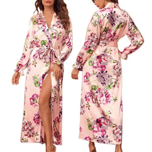 الجملة طويلة الجلباب الحرير الصانع مريحة للمرأة فضفاض عارضة المطبوعة