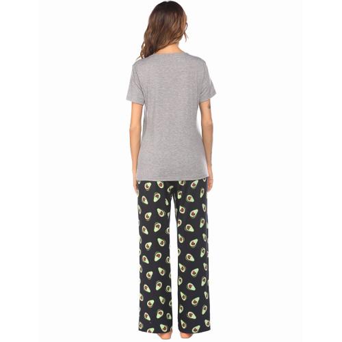 مزود بالجملة ملابس نسائية منزلية غير رسمية فضفاضة قطعتين من بيجاما وأكمام قصيرة وسراويل