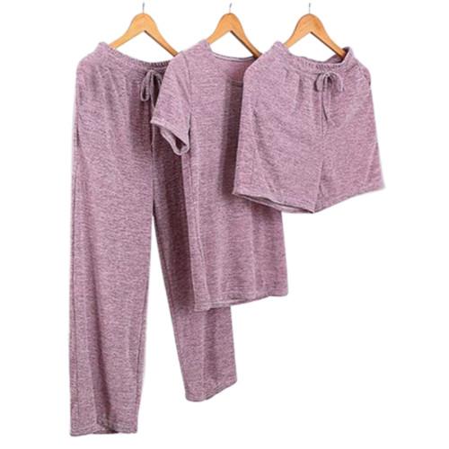 Оптовая продажа двух частей пижамы с короткими рукавами и шорт, удобных для женщин