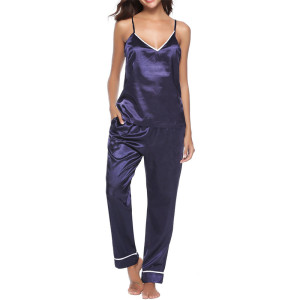 Silk Nightwear Shorts and Top,Fashion Women Wear at Home,Wholesale Elegant Satin Sleepwear