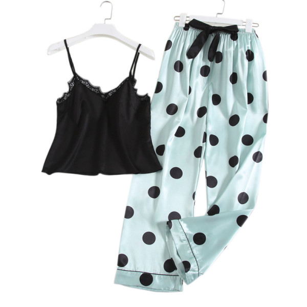 Women's Sleepwear Pyjamas,Pretty Printing Clothes,Pants and Sling in Summer Supplier