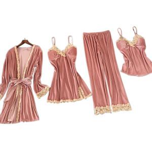 Factory Customized Multi-Piece of Pajamas Wholesale Sets Female Nighty Nightwear
