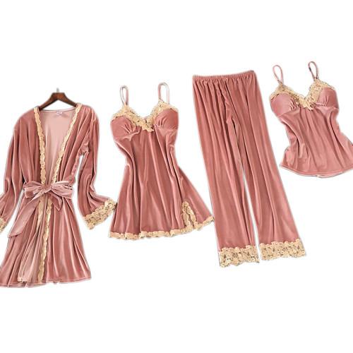 المصنع حسب الطلب متعدد قطعة من بيجامات بالجملة مجموعات أنثى ملابس نوم نايتي