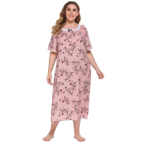 الصانع ثوب النوم للمرأة قصيرة الأكمام طويلة الصيف الخريف سيدة منامة