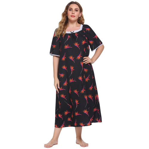 الجملة مخصص سيدة ملابس النوم ثوب النوم للنساء قصيرة الأكمام باس النوم عارضة طويلة