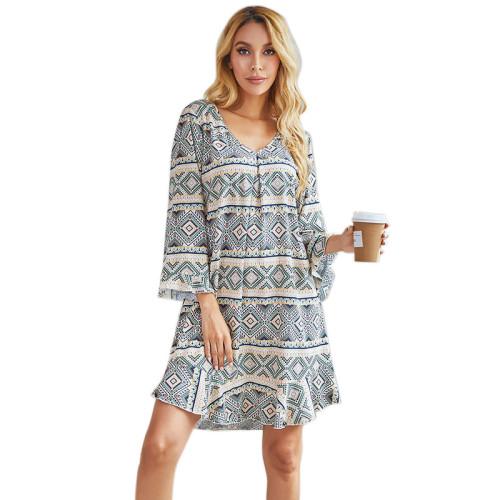 الجملة مصمم مخصص سيدة الركبة طول ثوب النوم طويلة الأكمام المرأة