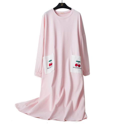 الجملة مصنع عارضة ثوب النوم طويلة الأكمام النساء الكبار سيدة أعلى جودة