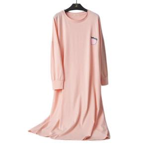 مورد حار بيع الكبار منامة عارضة ثوب النوم طويلة الأكمام النساء حجم الحرة