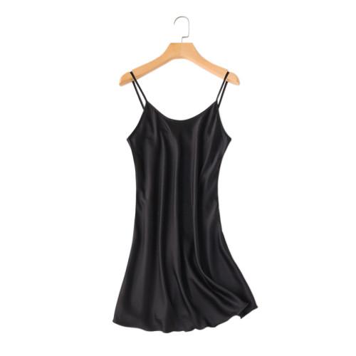 الجملة ثوب النوم حمالة تنورة الحرير المرأة الساتان بلا أكمام سيدة ملابس المنزل عارضة