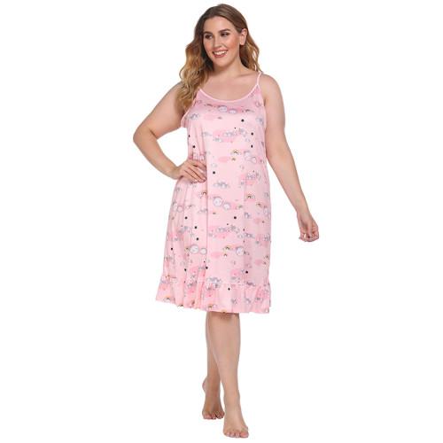 الجملة كوستوميد فضفاض الصيف سيدة عارضة لباس المرأة ثوب النوم الحمالة تنورة جميلة الدانتيل