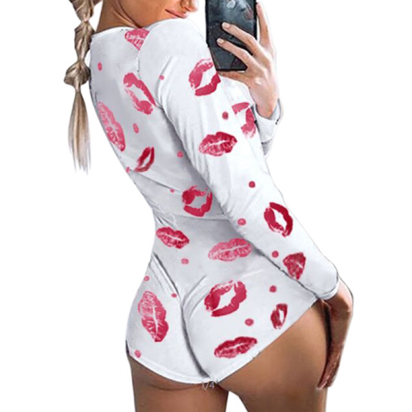 Women's Lingerie and Nightwear,New Arrival and Hot Sale Onesies,Ladies Nighty Jumpsuit Large Size