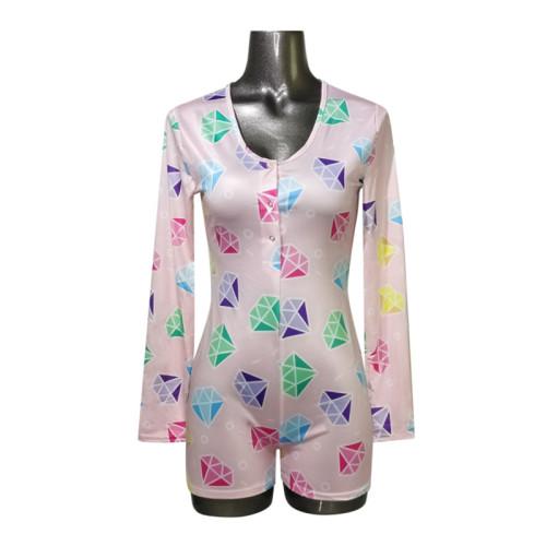 قطعة واحدة من ملابس النوم للبالغين ، ملابس نسائية مطبوعة بشكل جميل ، ملابس نوم للسيدات بسعر الجملة من المصنع