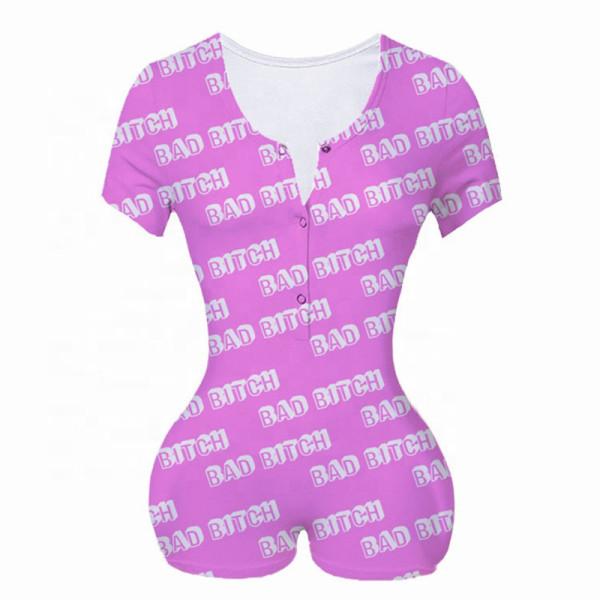 Женская цельная пижама, домашняя одежда с короткими рукавами, пижамы, женская пижама для взрослых, повседневная, заводская цена, цельный обтягивающий