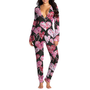 ثوب فضفاض للنساء مقاس كبير ، ملابس نوم مخصصة بطباعة جميلة ، ملابس منزلية للسيدات بالجملة