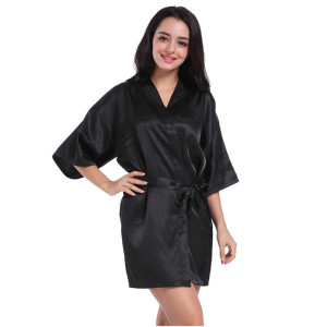 Mid-length Robe Bathrobes,Milk Silk Robes for Women,Comfort and Elegant Sleeping Wear at Home Wholesale