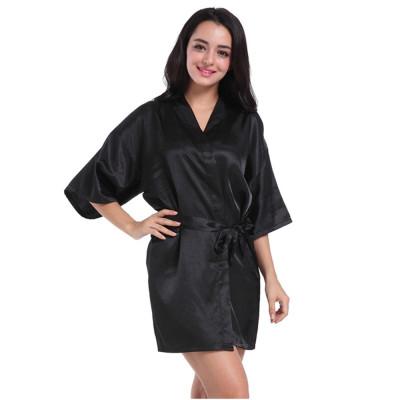رداء حمام متوسط الطول ، أردية حليب حريرية للنساء ، ملابس نوم مريحة وأنيقة في المنزل بالجملة