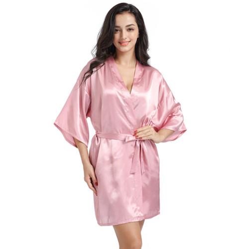 أردية حريرية فاخرة ، رداء نسائي غير رسمي لحفلات الزفاف ، أردية حمام مطبوعة حسب الطلب ، تصنيع ملابس نوم