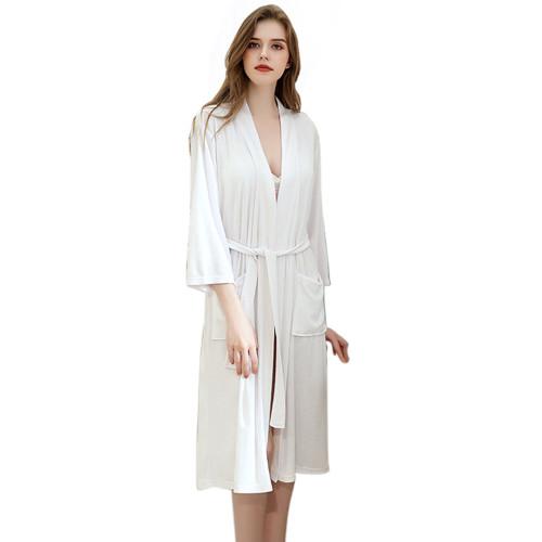 أردية طويلة مريحة ، فضفاضة من القطن في ملابس النساء الشتوية ، أردية غير رسمية في ملابس نوم المنزل ، ملابس نسائية بالجملة نايتي