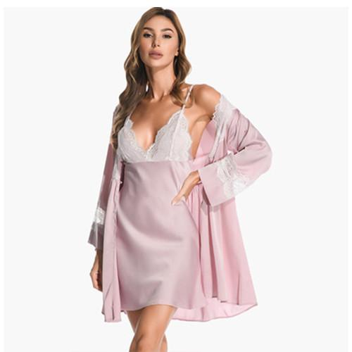 أطقم قمصان النوم ملابس نوم مريحة وجميلة وأنيقة ، من الدانتيل مع ملابس نوم للسيدات بسعر المصنع