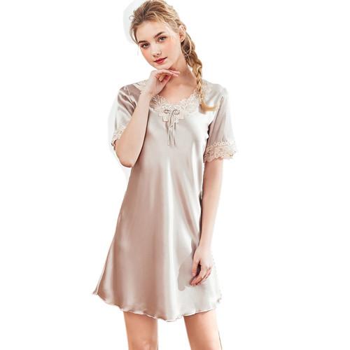 ملابس نوم بيجامات نسائية بمقاسات كبيرة ، ثوب نوم برقبة على شكل حرف V للنساء Elagant and Pretty ، ملابس نوم غير رسمية للبيع بالجملة في ملابس المنزل