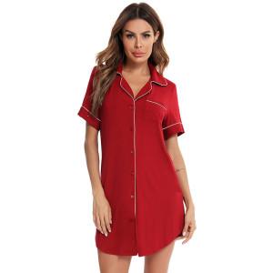 Ladies Nightwear Nighty,Pure Color Satin Cotton Pajamas Nightgown,Wholesale Female Sleepwear Pijamas