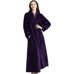 أردية طويلة للنساء ، أردية نوم من القطن الفانيلا للسيدات ، أردية حمام غير رسمية في المنزل بسعر المصنع