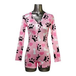 Боди для нижнего белья, Женские пижамы с милым принтом, Ночное белье оптом для женщин