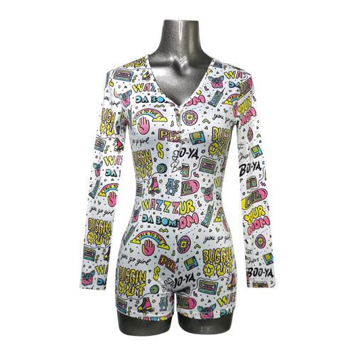 الملابس الداخلية ارتداءها ، منامة السيدات لطيف الطباعة ، ملابس نوم النساء بالجملة نايتي