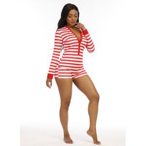 Боди с V-образным вырезом Повседневная одежда, Цельная тонкая женская одежда, Женские пижамы оптом