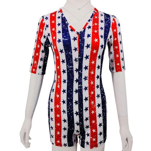 ملابس غير رسمية برقبة على شكل V ، ملابس منزلية غير رسمية للنساء ، طباعة جميلة وملابس نوم نحيفة بالجملة