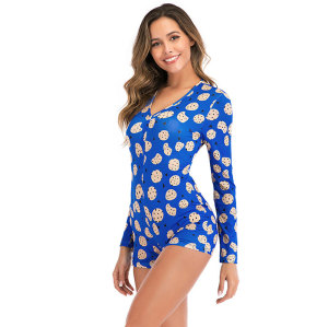 رومبرز للنساء ، طباعة جميلة للملابس من قطعة واحدة ، بيجاما نسائية بسعر المصنع للسيدات