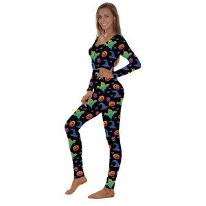 Хеллоуин Комбинезон Пижамы, Брюки с длинным рукавом Тонкий комбинезон для женщин, Производители Женская одежда для сна