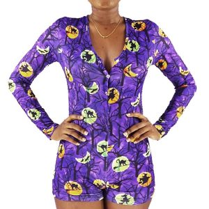 Пижамные штаны на Хэллоуин, женские пижамы, обтягивающие тонкие, женские комбинезоны для сна оптом