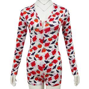 بنطلون بيجامة للهالوين ، بيجامات نسائية ضيقة نحيفة ، ملابس نوم للسيدات للبيع بالجملة