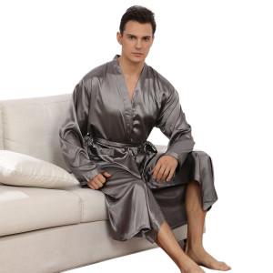 Комплекты пижамы оптом, кардиган ночная рубашка с широкими рукавами, весна и осень гладкий халат оптом