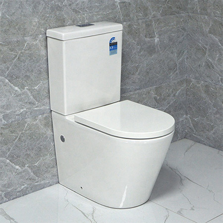 MWD brand two piece toilet australian standard back to wall rimless toilet wholesale