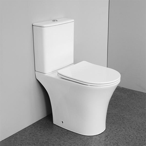 Doble descarga estándar australiano marca de agua P-trap wc baño inodoro de dos piezas inodoro de cerámica inodoro sin borde inodoro pequeño al por mayor