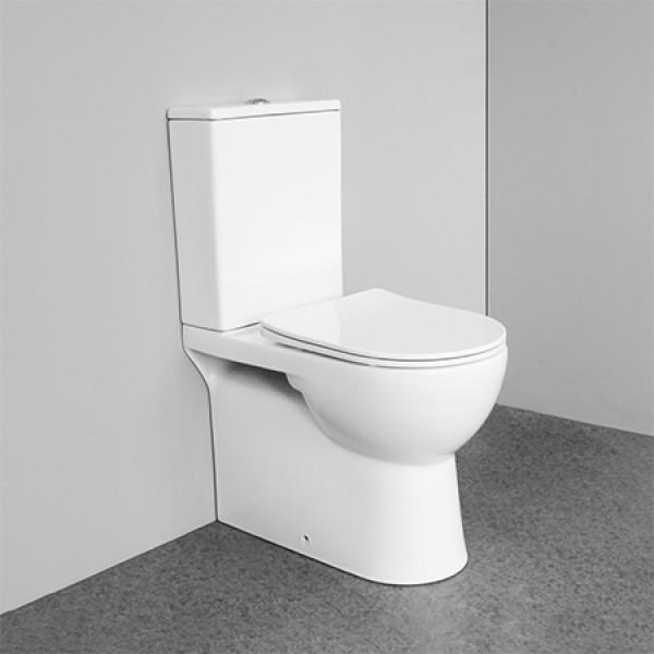 Wasserzeichen Toilette Doppelspülung randlose weiße Keramik zweiteilige WC australische Standard Toilette