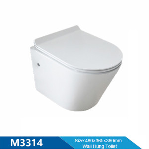 MWD bathroom product high quality chinese wall hung rimless flush wc toilet wholesale
