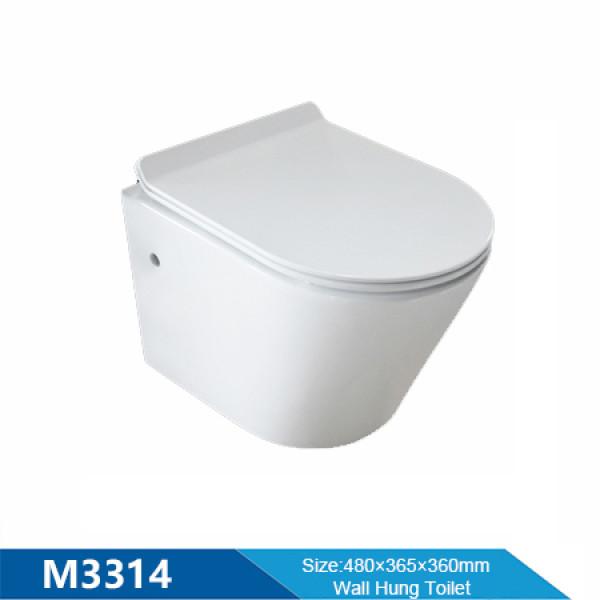La pared china de alta calidad del producto del cuarto de baño de MWD colgó al por mayor sin borde del retrete del wc del rasante