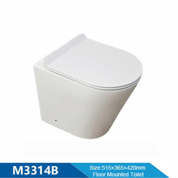 Sartén con revestimiento de pared de sanitarios sin borde con cisterna inwall baño chaozhou inodoro montado en la pared al por mayor