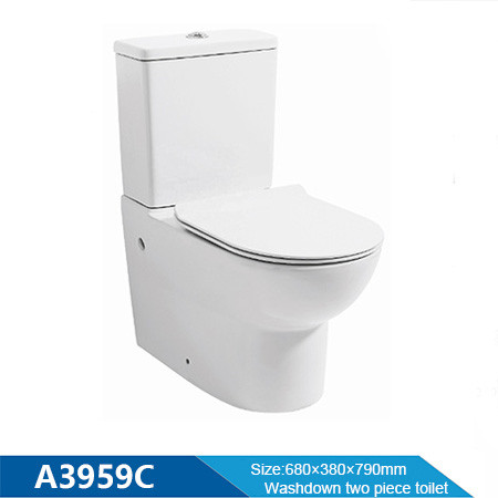 Watermark and WELs certificated washdown two piece toilet for bathroom