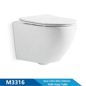 Producto de baño de alta calidad chino colgado en la pared inodoro sin reborde baño inodoro wc