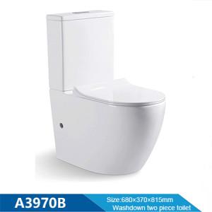 MWD Badezimmer WC Waschbecken Toilette zweiteilige Sanitärkeramik Weiß Keramik WC Toilette