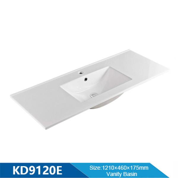 Length 1200mm thin edge wash basin rectangular ceramic for bathroom