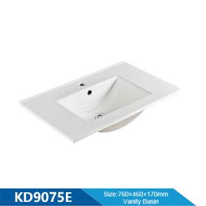 Length 750mm cabinet basin design modern cermaic rectangle cabinet basin sinks