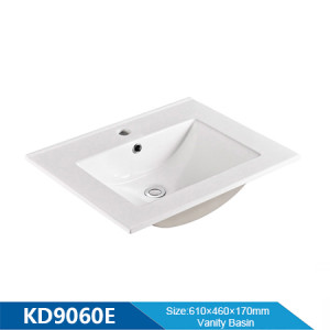 Longitud 600 mm lavabo de borde fino lavabo del baño lavabo sanitarios debajo del mostrador lavabo del gabinete